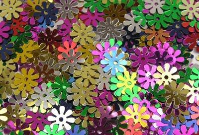 Flower Sequins - Assorted - 50g