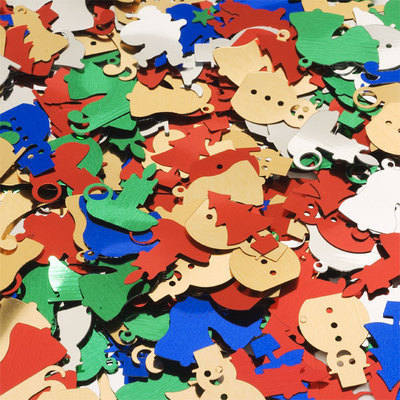 Christmas Sequins - Assorted - 100g