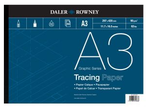 Daler Rowney Tracing Paper Pad - Please Select Size - Pack of 50 sheets