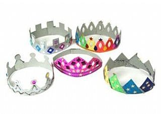 Cardboard Crowns - Assorted - Pack of 12