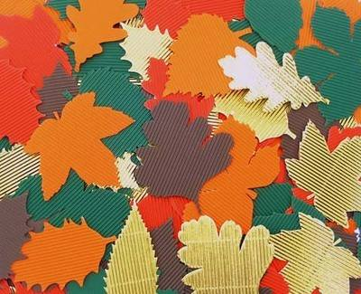 Corrugated Leaves - Assorted - Pack of 120