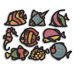 Cellophane / Tissue Paper - Fish Stained Glass Frames - Assorted - Pack of 24
