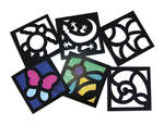 Cellophane / Tissue Nature Stained Glass Frames - Assorted - Pack of 24