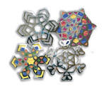 Cellophane / Tissue Paper Snowflake Stained Glass Frames - Assorted - Pack of 25