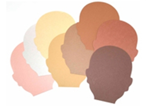 Multicultural Cut-outs - Faces - 15 x 13cm