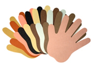 Multicultural Cut-outs - Hands - 12 x 12cm