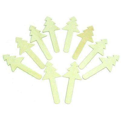 Christmas Trees Wooden Craft Sticks - Pack of 10