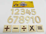 Wooden Numbers - 45mm - Pack of 35