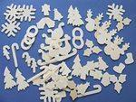 Wooden Christmas Shapes - Assorted - Pack of 75