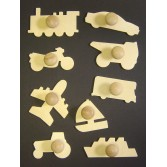 Transport Wooden Templates - Assorted - Set of 9