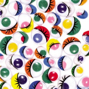 Coloured Wiggly Eyes - Assorted - Pack of 100