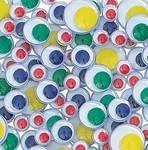 Wiggly Eyes - Self Adhesive Coloured  - Assorted - Pack of 100