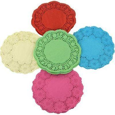 Doilies - Coloured - 16cm - Pack of 120