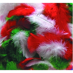 Christmas Feathers - Assorted - 14g