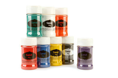 Sand Shakers - Assorted - 350g - Pack of 8