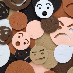 Foam Faces - Assorted - Pack of 60