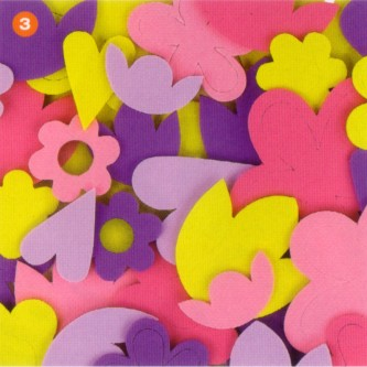 Foam Flowers - Assorted - Pack of 60