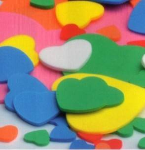 Foam Hearts - Assorted - Pack of 180