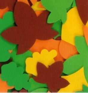 Foam Leaves - Assorted - Pack of 60