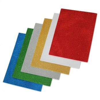 Glitter Foam Sheets - A4 - Assorted - Pack of 12
