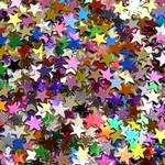 Sequins - Small Foil Stars - Assorted - 70g