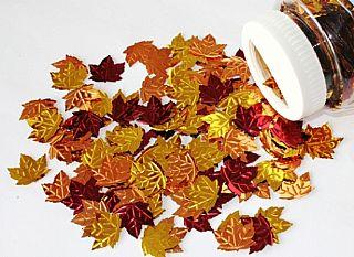 Leaf Foil Sequins - Assorted - 80g
