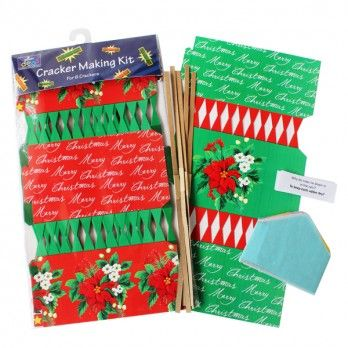 Make Your Own Poinsetta Christmas Cracker Kits - Pack of 6