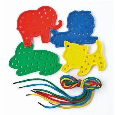 Animal Lacing Shapes - Assorted - Pack of 16