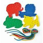 Lacing Shapes - Animals - Assorted - Pack of 16