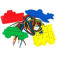 Transport Lacing Shapes - Assorted - Pack of 8