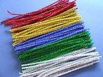 Pipe Cleaners - Glitter - 30cm - Assorted - Pack of 100