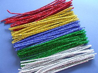 Glitter Pipe Cleaners - 30cm - Assorted - Pack of 100