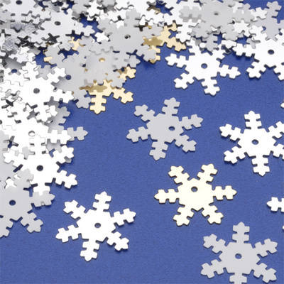 Snowflake Sequins - Assorted - 70g