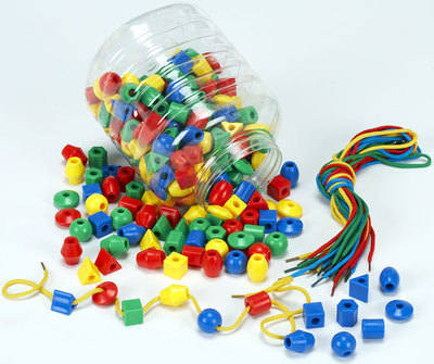 Sorting, Counting & Sequencing Beads - Assorted - Pack of 250