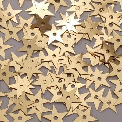 Star Sequins - Gold - 90g