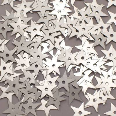Star Sequins - Silver - 90g