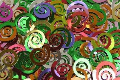 Swirl Sequins - Assorted - 50g