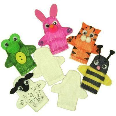 Calico Hand Puppets - Pack of 5
