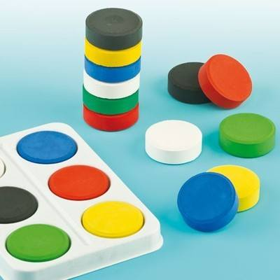 Reeves Tempera Colour Blocks - Assorted - Pack of 6