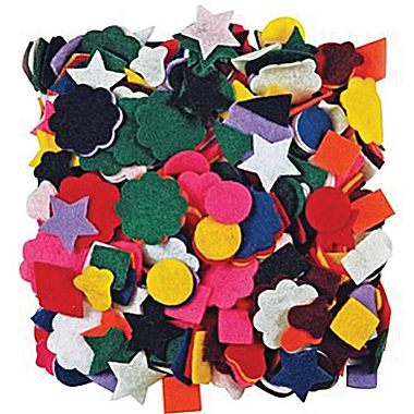Felt Shapes - Assorted - Pack of 500