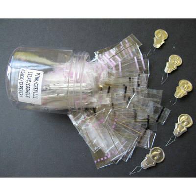 Metal Needles Tub - 3 Assorted x 50 + 5 Threaders