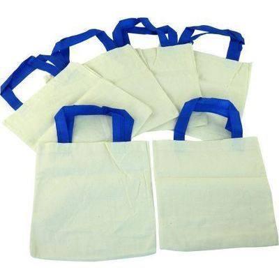 Plain Cotton Bags - Pack of 6