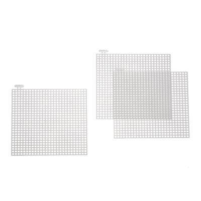 Plastic canvas - 10cm Square - Pack of 10