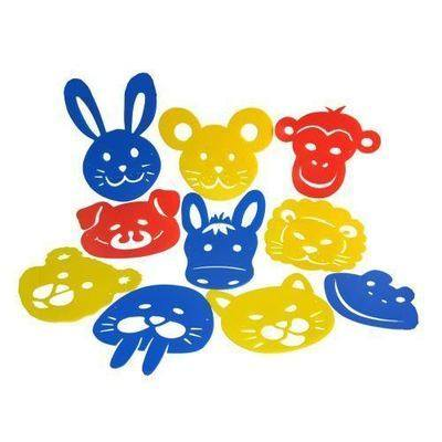 Animal Mask Stencils - Assorted - Pack of 10