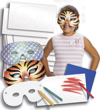 Colour-In Carnival Masks - Pack of 40