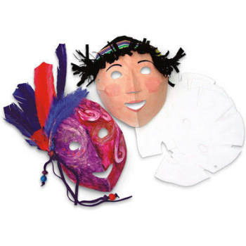 Folding Fun Card Masks - Faces - Pack of 40