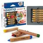 Giotto Face Painting Pencils - Assorted - Pack of 6