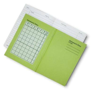 Homework Diary - 20 x 14cm - 84 Page - Pack of 10