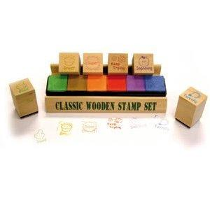 Motivational Wooden Stamp Set - Assorted
