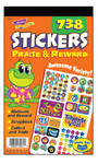 Praise & Reward Sticker Reward Pad - Assorted - Pad of 738